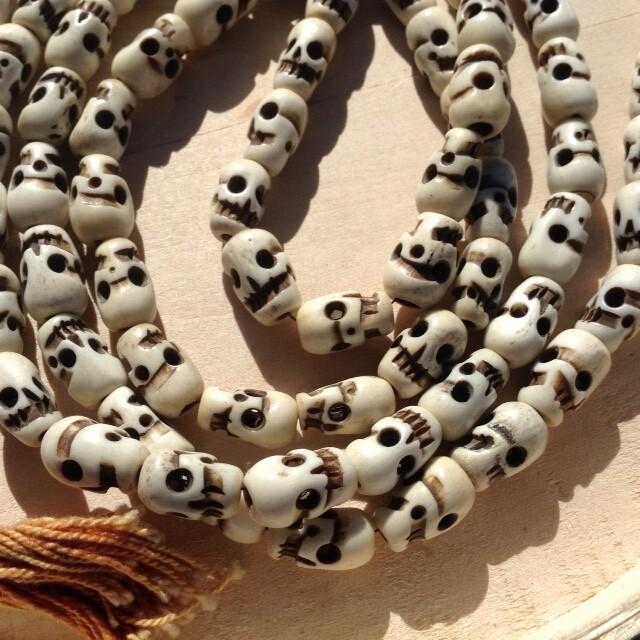 Skull Mala Made of Carved Bone