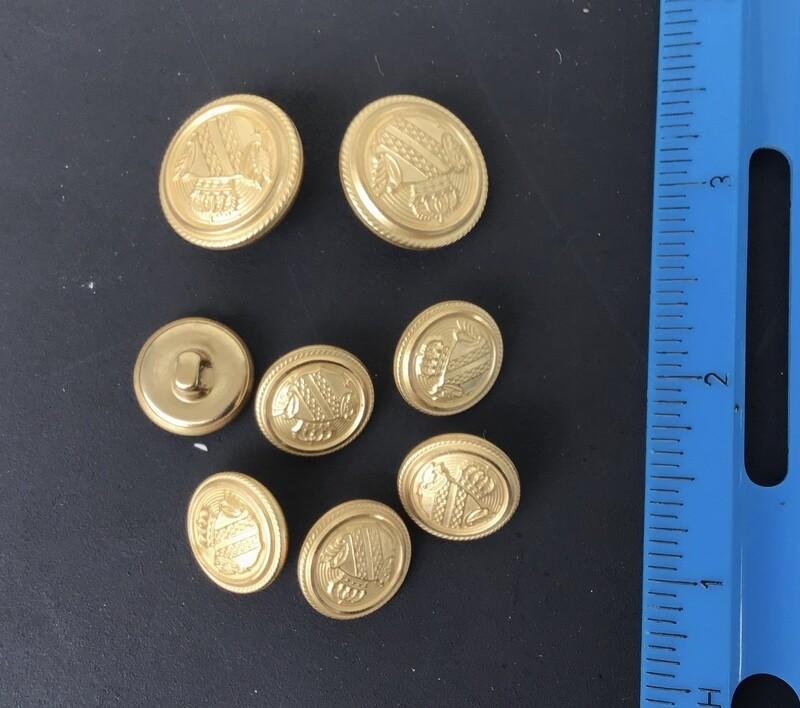 Buttons Vintage Gold Tone #2