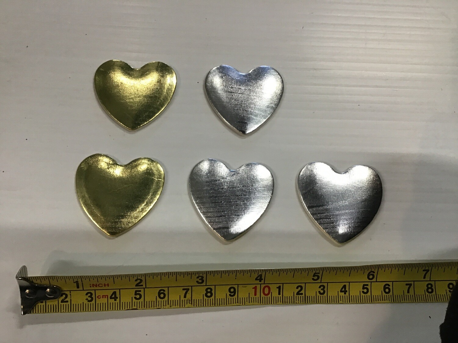 Heart Decorations: Silver&Gold, Set of 5