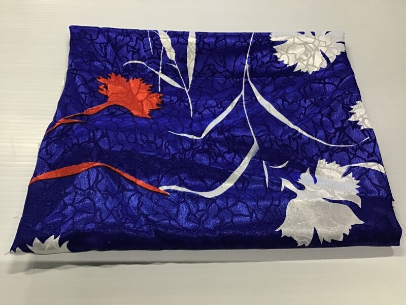 Fabric: White On Blue
