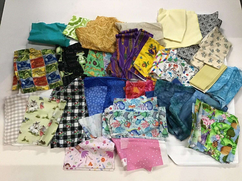 Fabric: Cotton, Quilting Scrap Bag #1