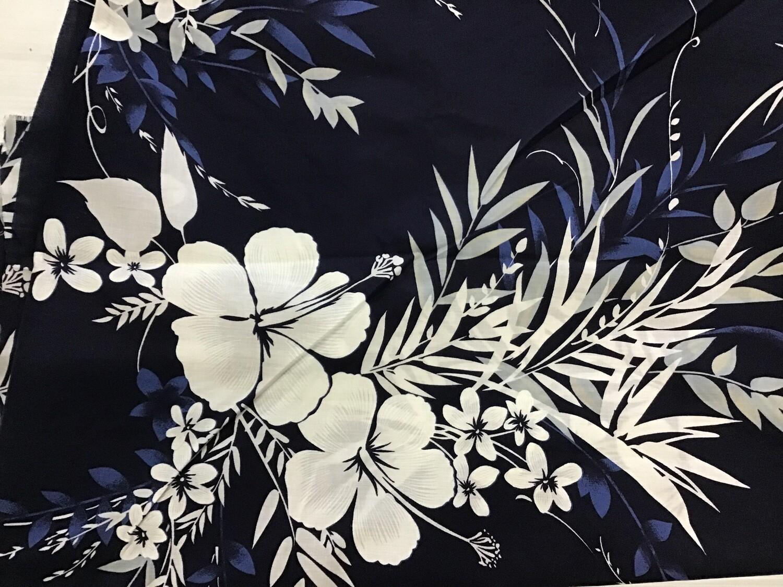 Fabric: White Hibiscus