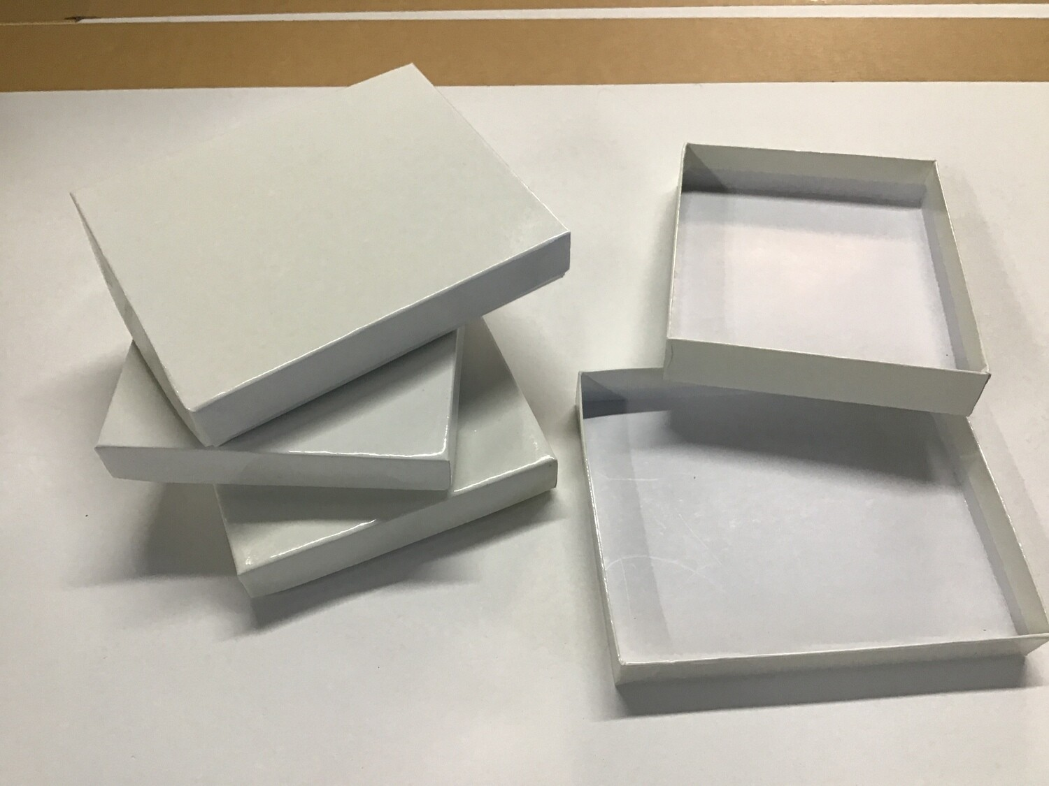 Small Gift Boxes, Off-white, Set of 4