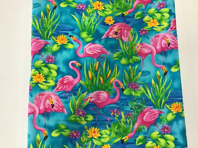 Fabric: Bright Flamingo