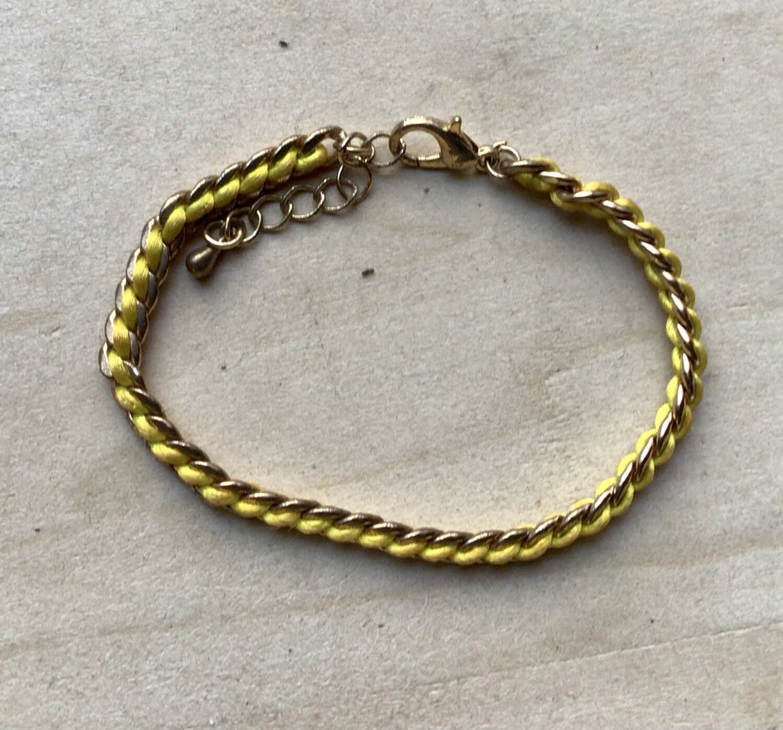 Bracelet: Yellow with Gold Trim