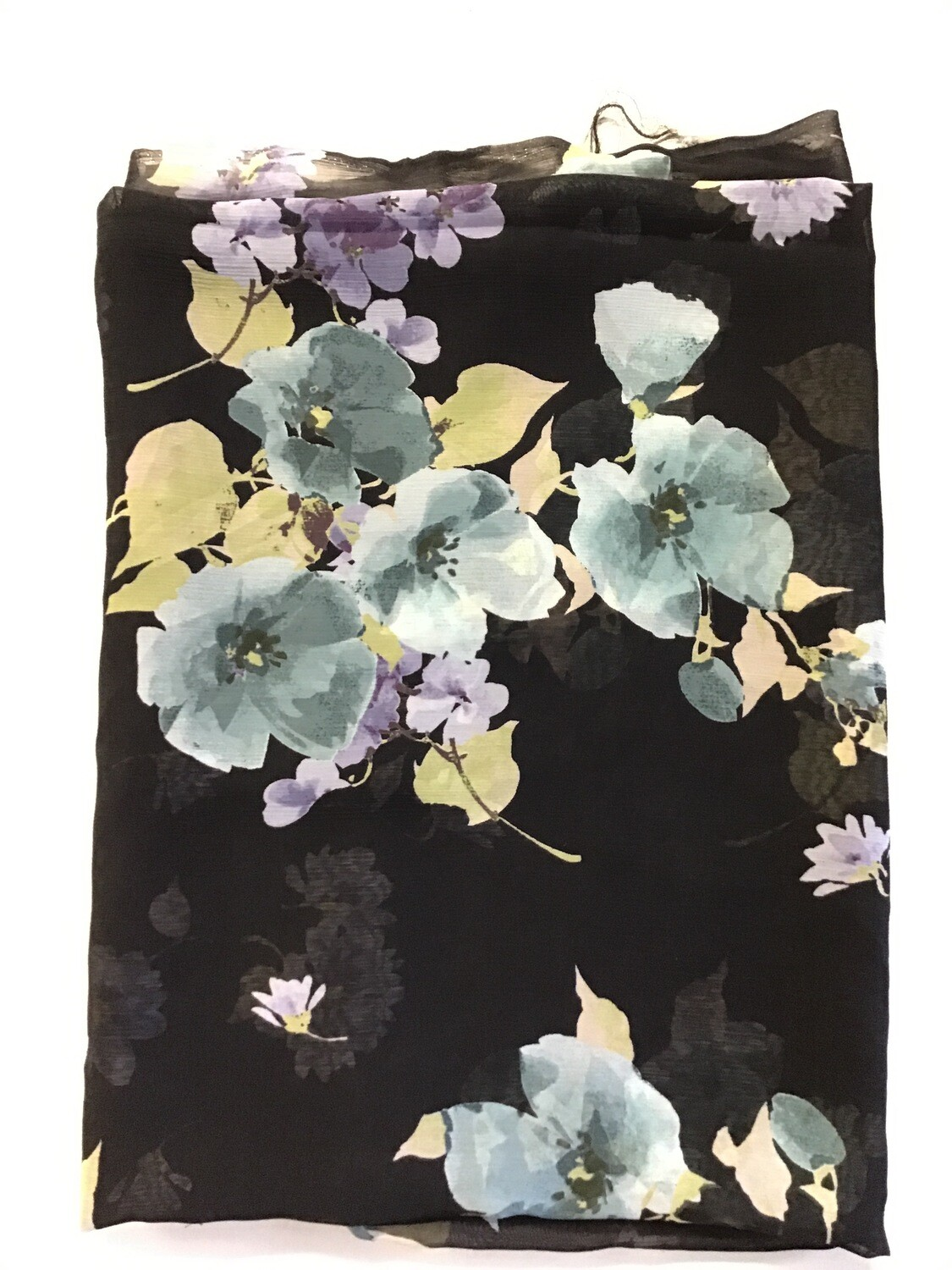 Fabric: Sheer Black Floral
