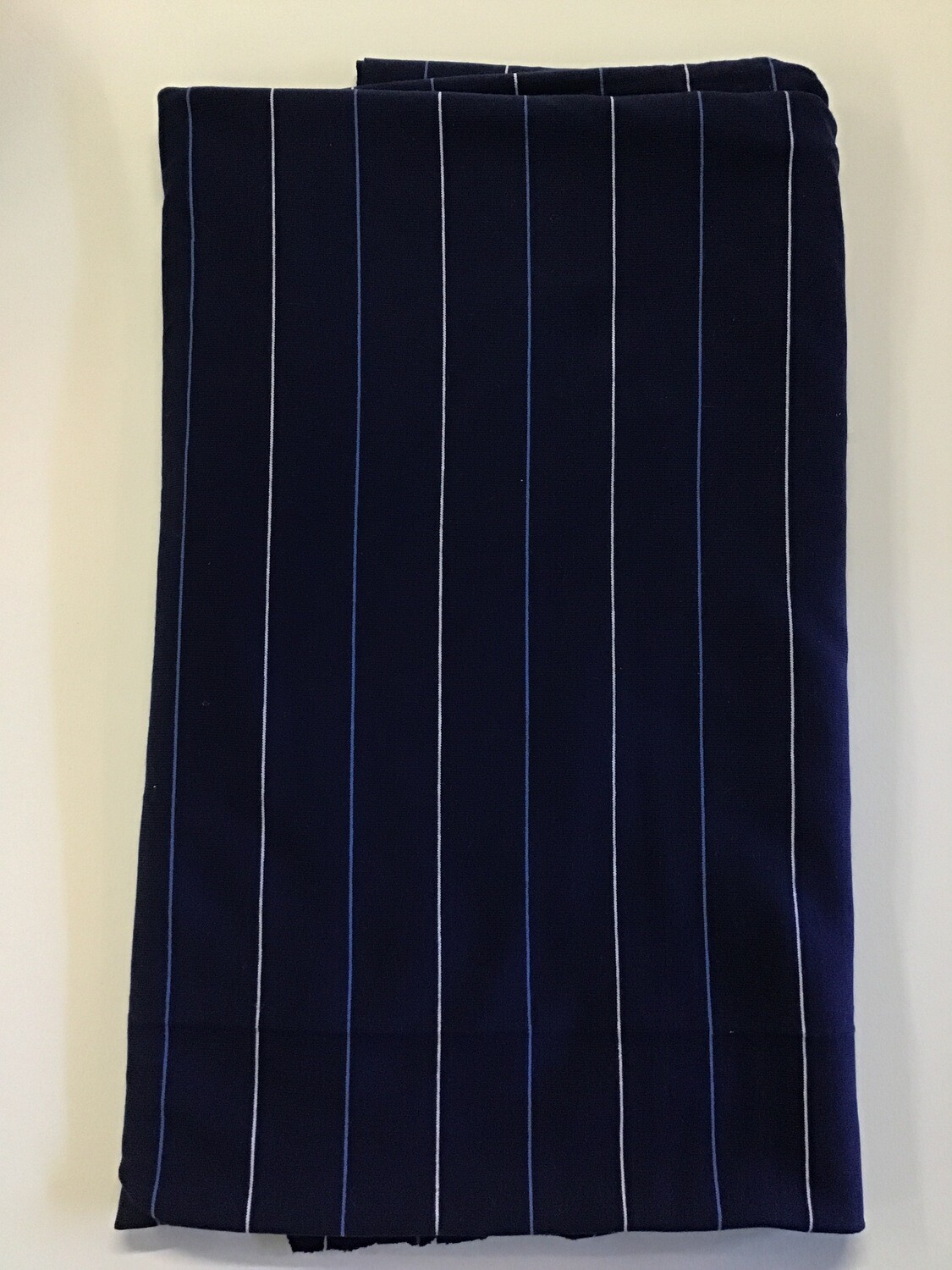 Fabric: Cottony Navy Thin Stripe (B)