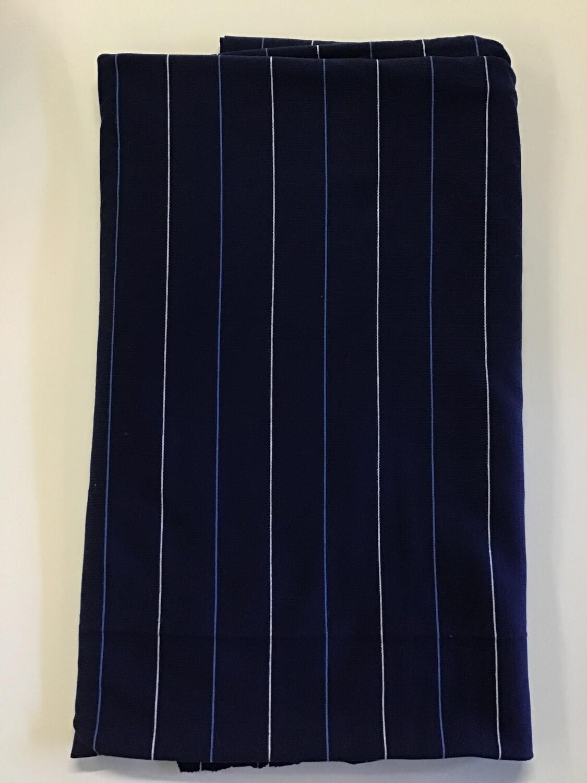 Fabric: Cottony Navy Thin Stripe (A)