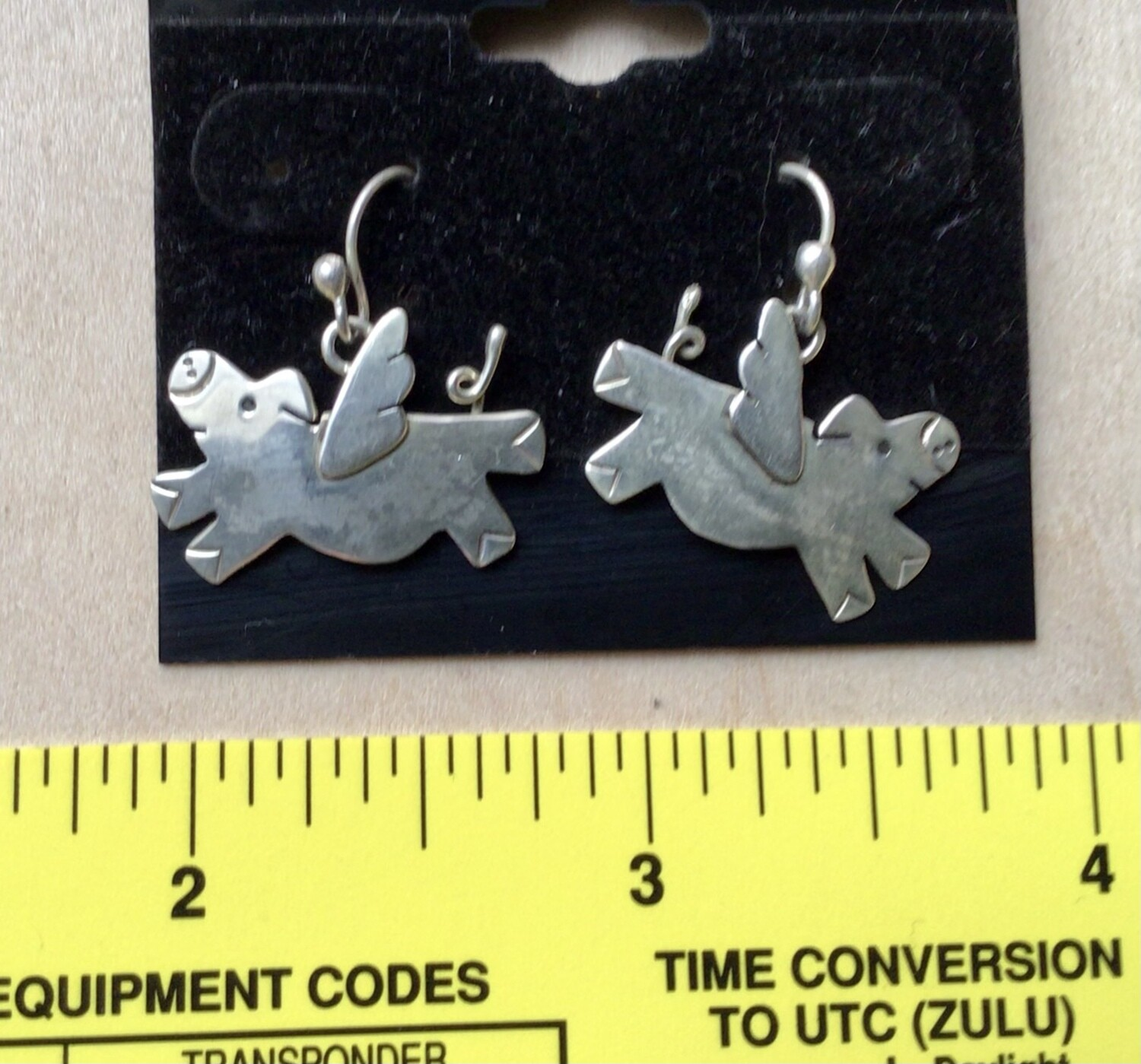 Earrings: Flying Pigs Sterling Far Fetched