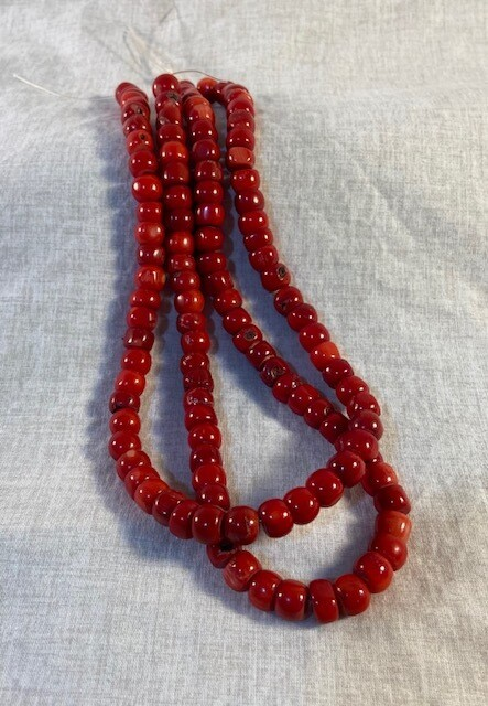 Red Coral Bead Strand