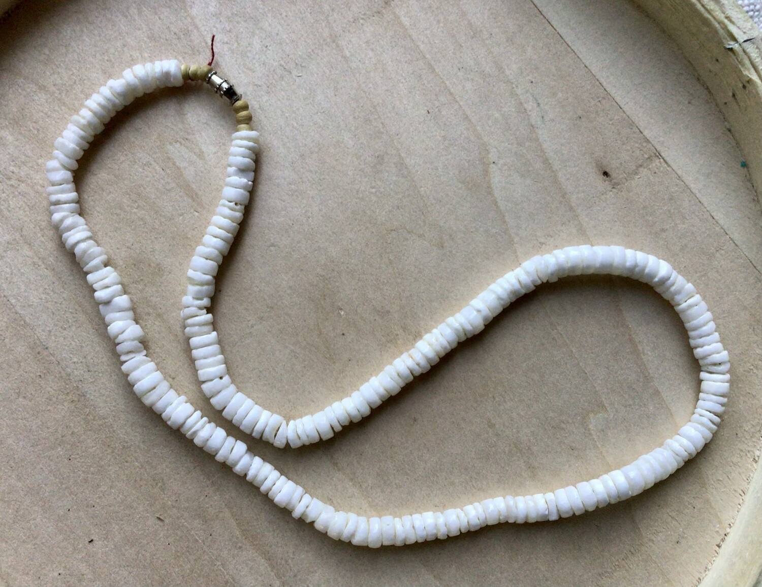 Necklace: White Puka Shells
