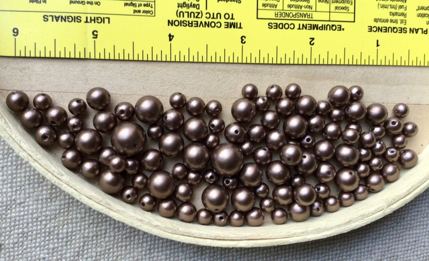 Beads: Chocolate Faux Pearls