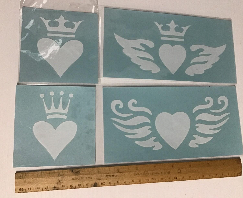 Sticker/Stencil Hearts #6