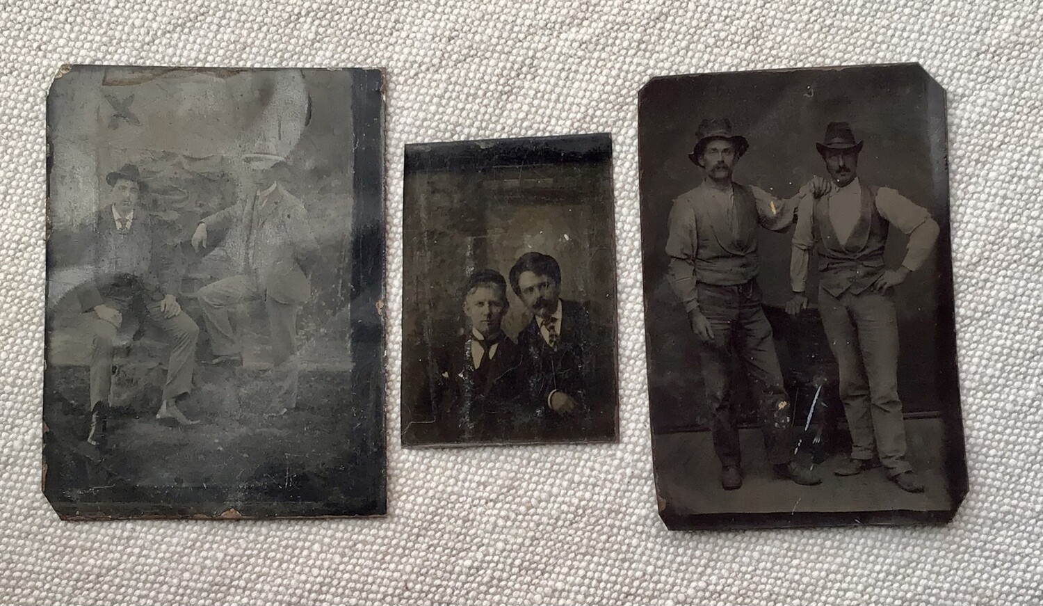 Tintype Photos: Three With Men