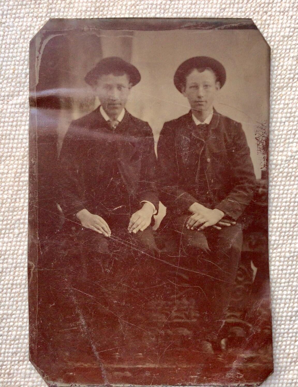 Tintype Photo: Two Boys