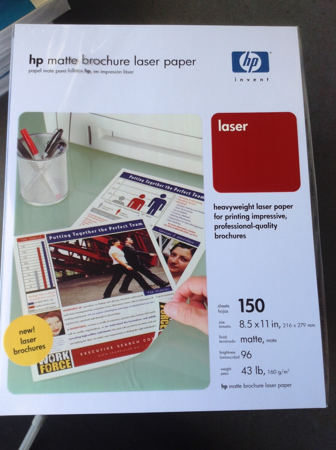 "New HP ""Brochure Paper 43lb"" Ream"