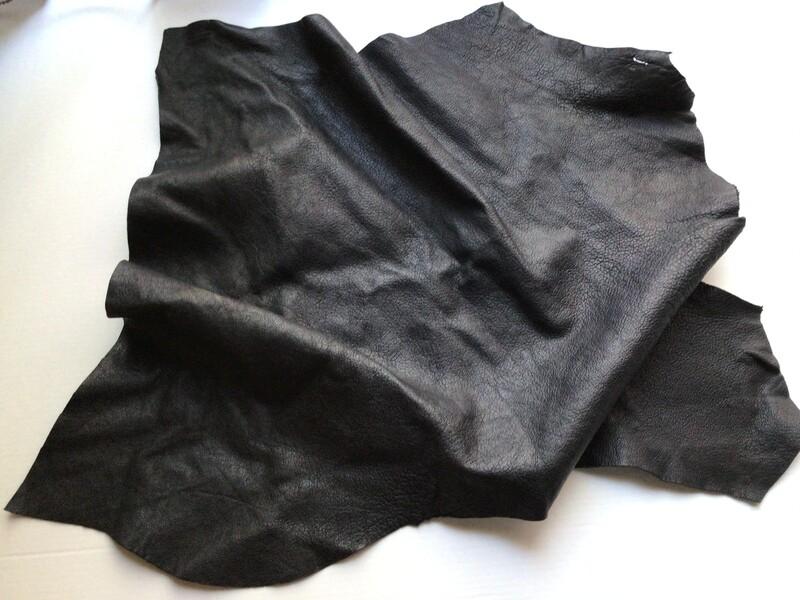 Leather: Textured Black