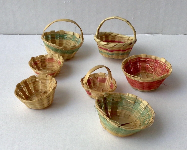 Miniature Furniture: Baskets