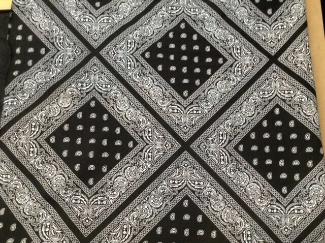 Fabric: B/W Bandana Fleece