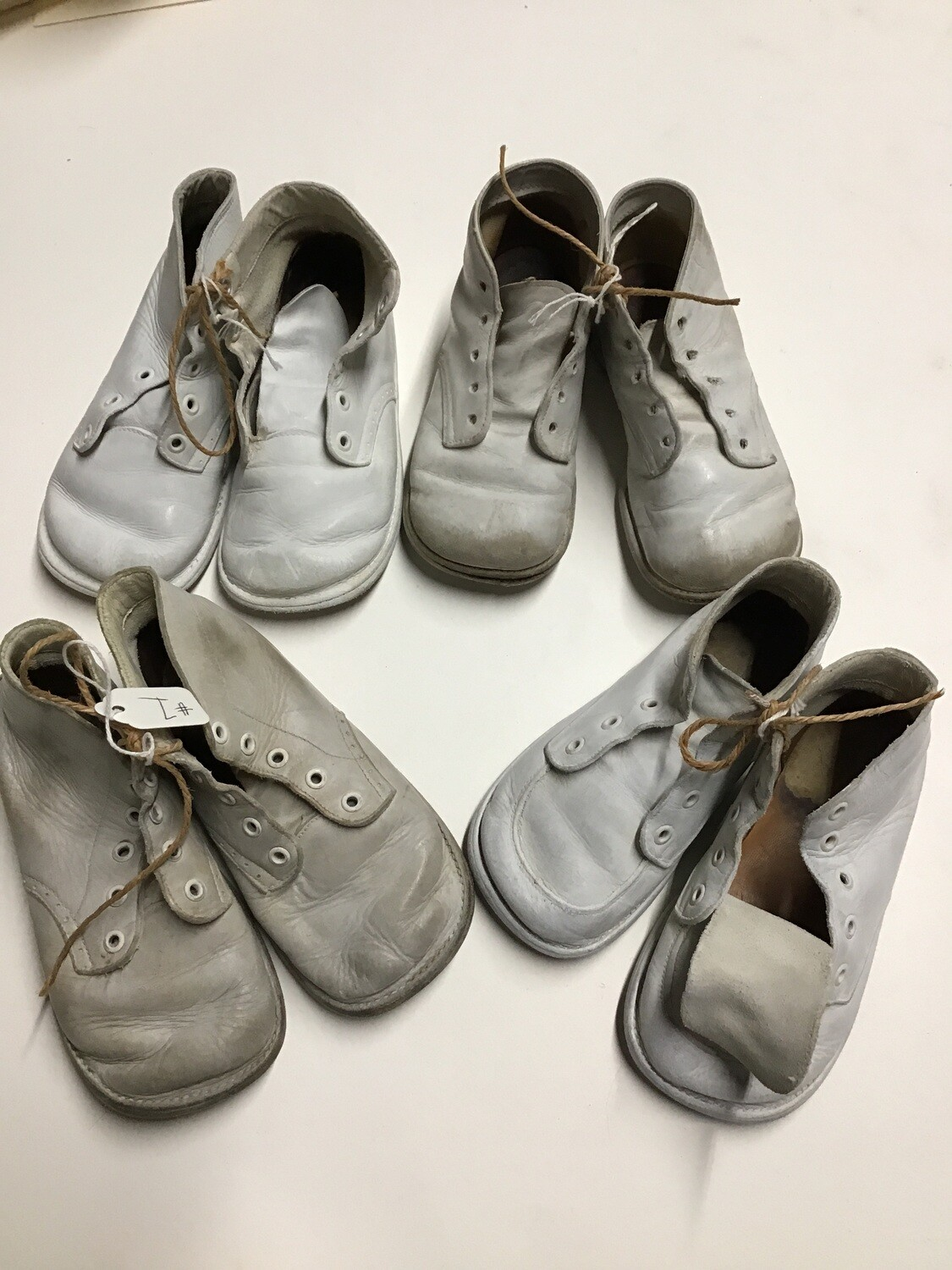 Vintage Toddler Shoes - 4 Pairs- For Art