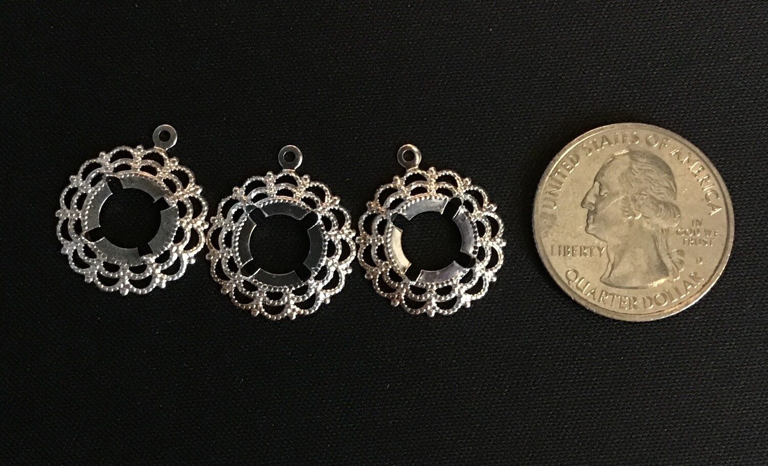 7 mm Bezel Pendant/ Set of 3