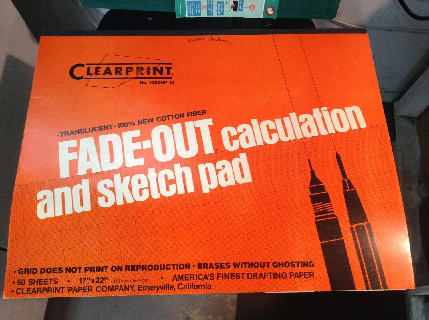 """""""Fade Out Calculation & Sketch Pad"""" 17"""" x 22"""""""