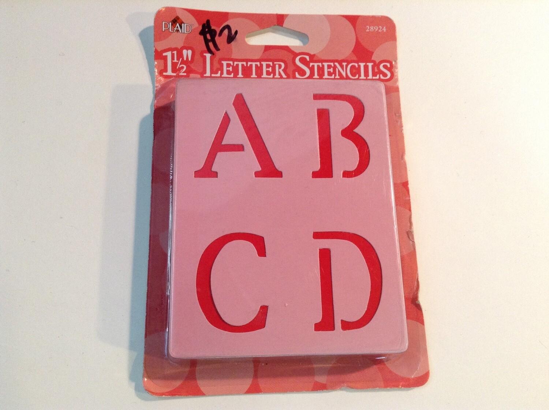 "Letter Stencils / 1.5"""