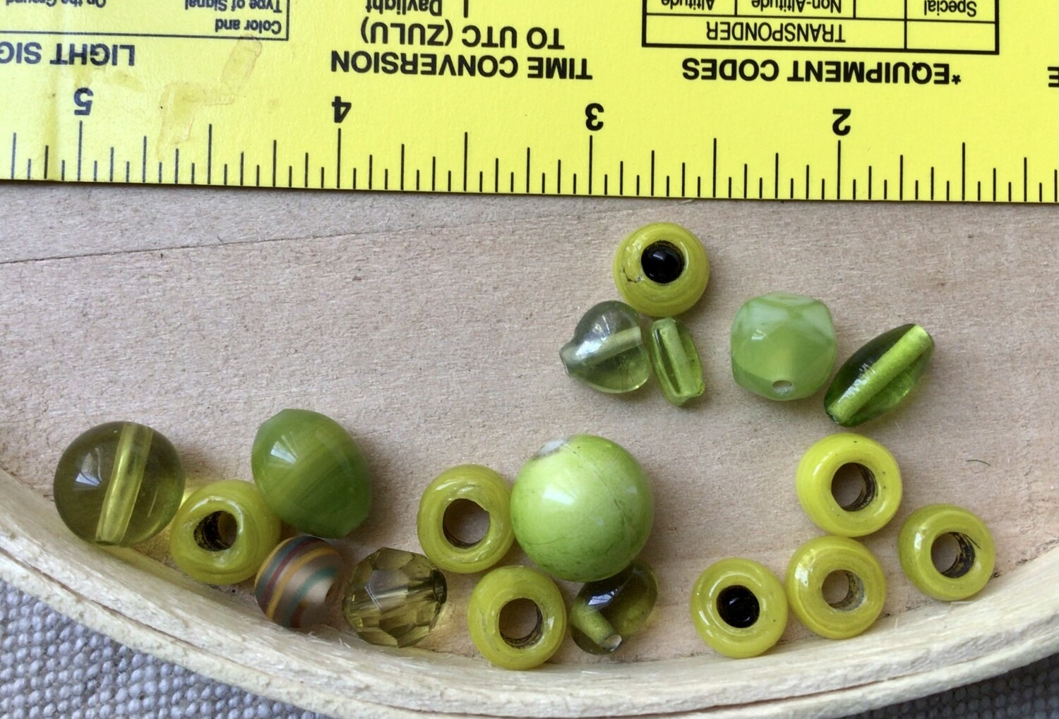 Beads: Assorted Lime Green