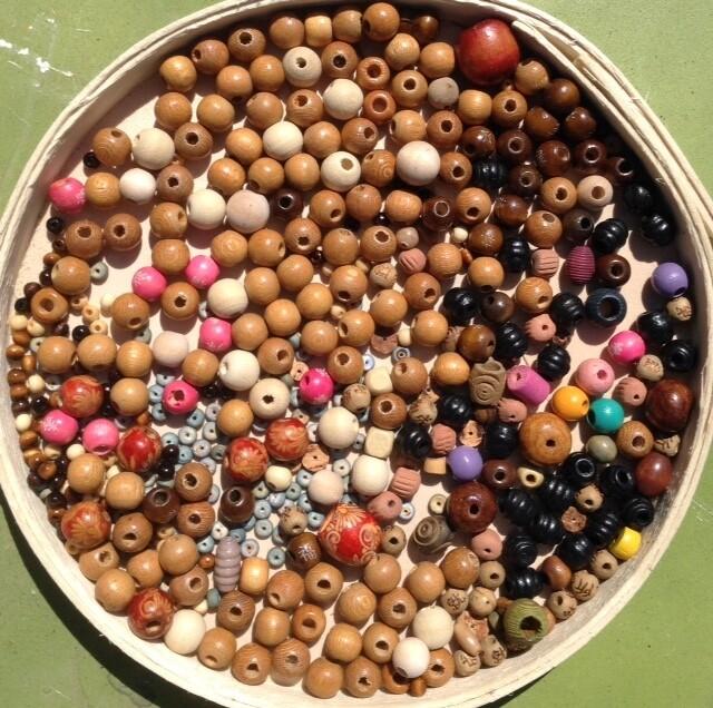 Beads: Wood Asst. w/ Some Ceramic