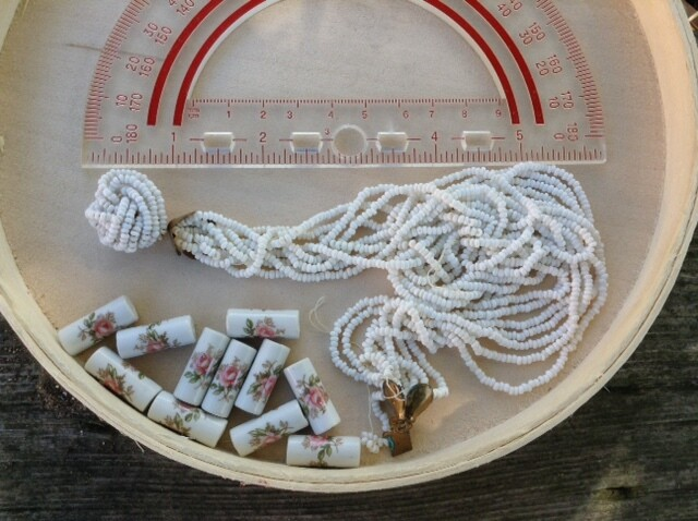 Beads: Vintage, Rose and White Seed Beads