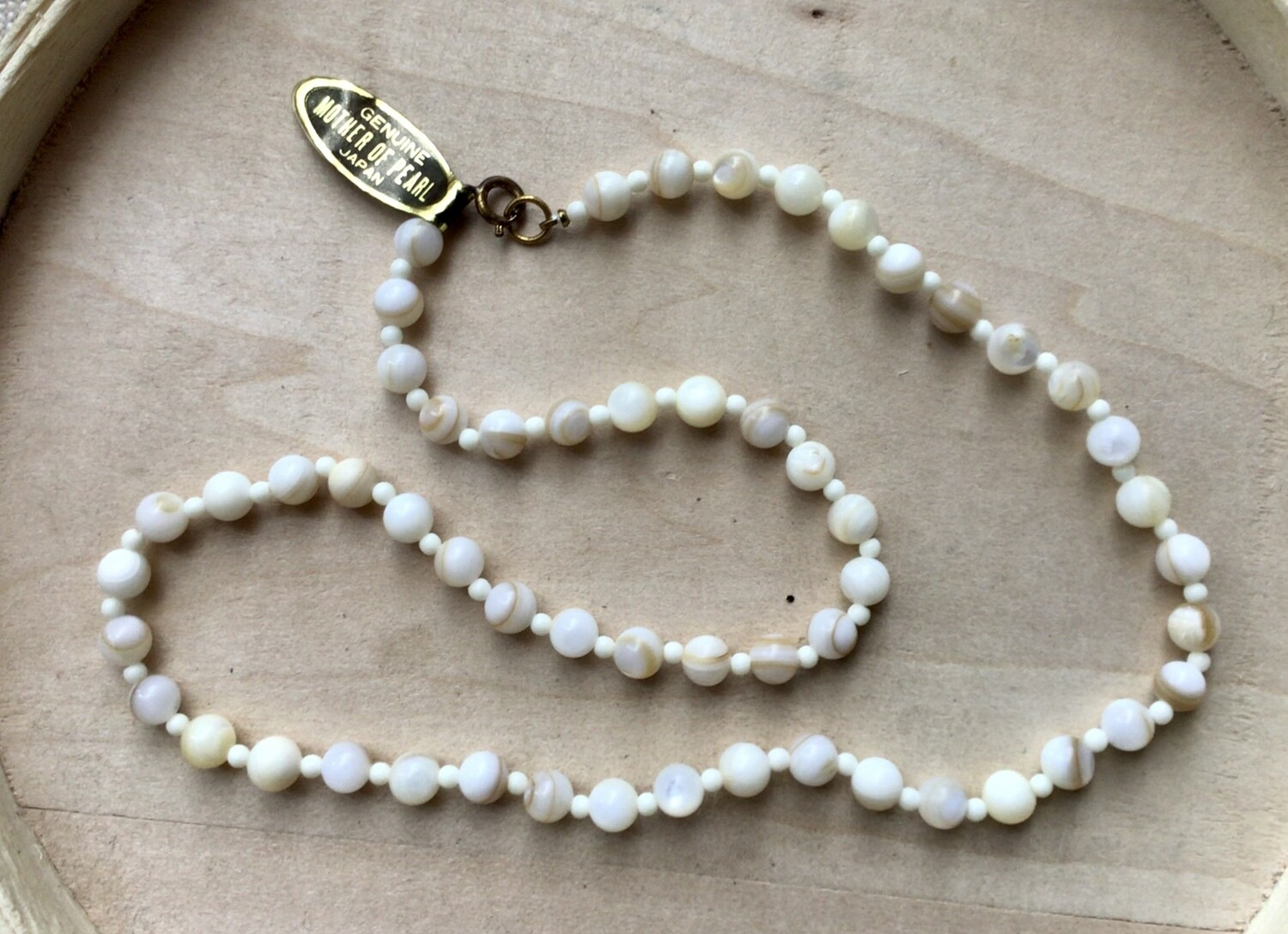 Necklace: Vintage Mother-of-Pearl