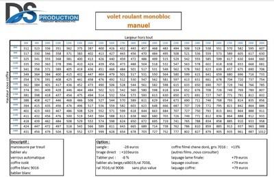 VRI PVC avec LAMES ALU DP 9/40mm