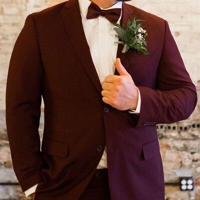 Wedding package specialty color suit, vest, pant, shirt, tie, pocket square