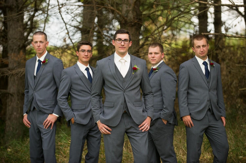 Wedding package medium gray suit, vest, pant, shirt, tie, pocket square