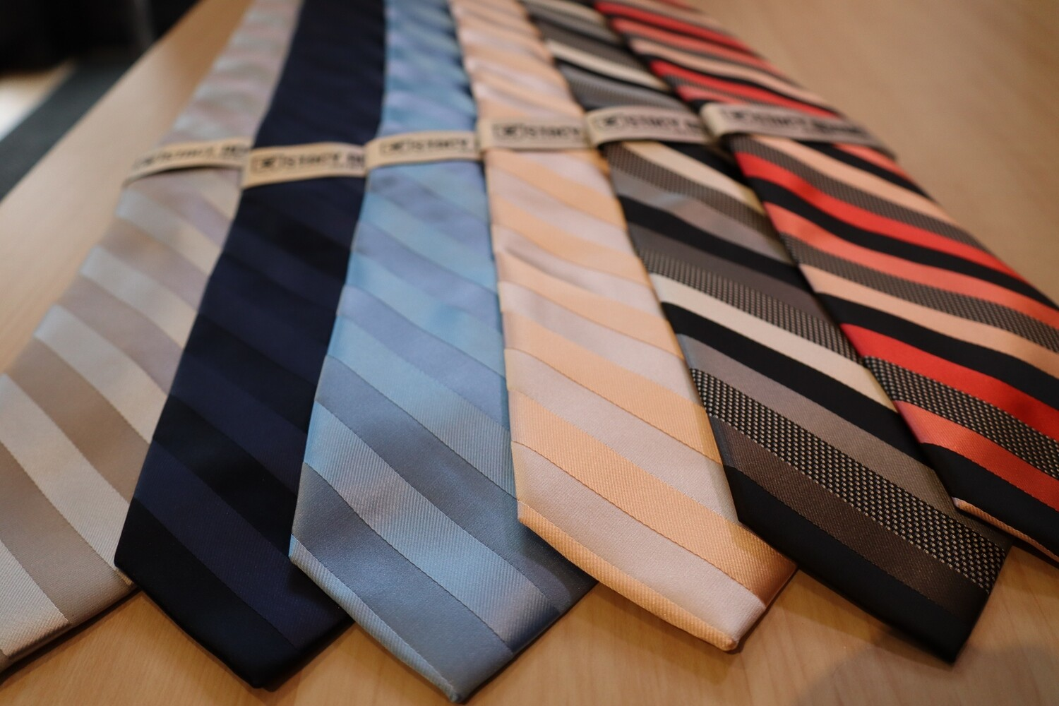 Stacy Adams stripe Tie w/ square