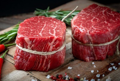 6oz USDA Prime Black Angus Filet Mignon, Barrel Cut, (Sold in 2PK)