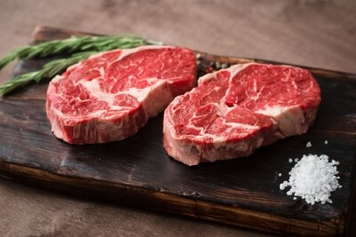 14oz USDA Center Cut Angus Platinum Bone In NY Strip (Sold in 2PK)