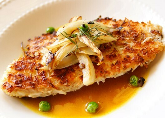 6oz Coconut Crusted Talapia with Mango + Papaya (Sold in 2PK)