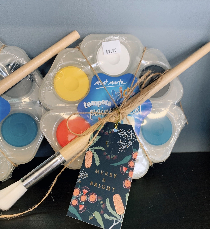 Tempera Paint Wheel & Brush Set