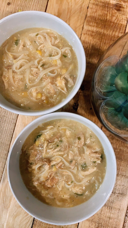 Healing Chicken, Corn & Noodle Soup
