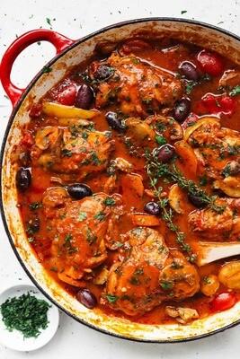 Chicken Cacciatore w Rigatoni Pasta