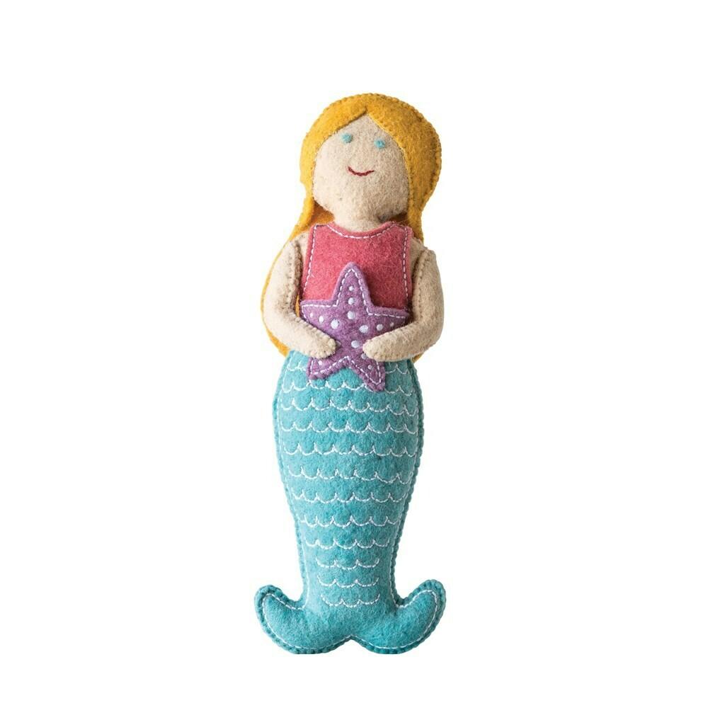 Wool Mermaid Tooth Fairy Pillow