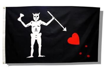 Blackbeard - Edward Teach Flag 3ft. x 5ft.
