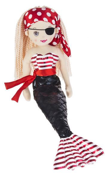 """Shimmer Cove Pirate Mermaid Doll 18"""""""