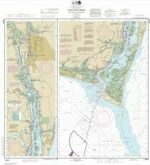 NOAA Chart: Cape Fear River to Wilmington, NC