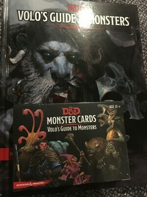 Volo's Guide and Monster Card Bundle