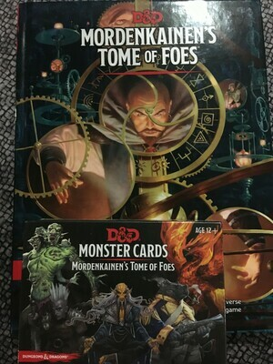 Mordenkainen's Tome of Foes and Monster Card Bundle