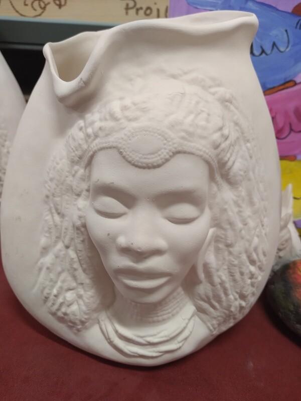 African American Queen Pillow Vase