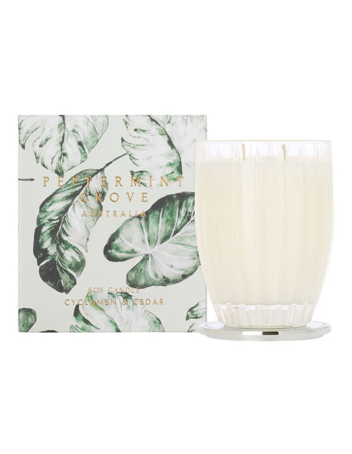 PEPPERMINT GROVE-Soy Candle-CYCLAMEN/CEDAR- 350g