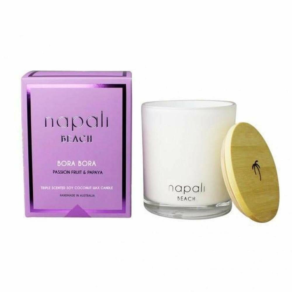 NAPALI BEACH BORA BORA-Soy/Coconut Wax Candle-PASSIONFRUIT/PAPAYA-400g